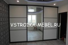 Встроенный шкаф-купе 3460*500*2515 (Ш*Г*В) -  36 000 р.  (ДСП-Файнлайн Светлый/Зеркало/Профиль-Венге)